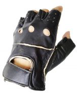 (G011) CNELL Cut Fingers Leather Gloves