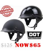 DOT-Approved Skull Cap Half Helmet (H205)