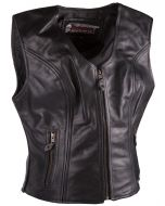 (V197) CNELL lady motorcycle leather vest