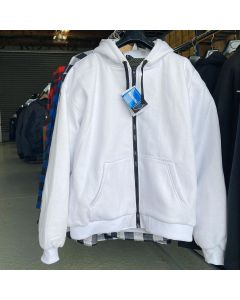 White Motorcycle KEVLAR Hoodie with Armours (KJWHT)