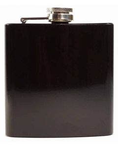Shiny Black--Stainless Steel 6oz Hip Flask(AFLASK01)