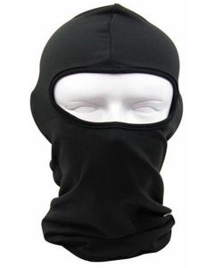 100% Cotton Black Balaclava Ventilated Shroud Mask(AMASK03)