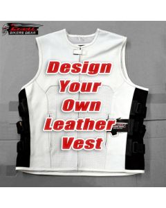 CNELL Custom Leather Vest for Bikers