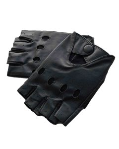 (G2251) CNELL Cut Fingers Leather Gloves