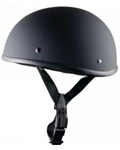 Beanie Half Novelty Harley Motorcycle Helmet Skull Cap Black Skid Lid (H206)