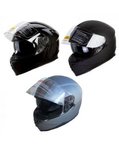 Dual Visor Helmet -  Bluetooth Socket Compatible (H822)