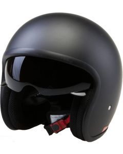 (H851) Fibreglass Low Profile Open Face Helmet With Inner Visor