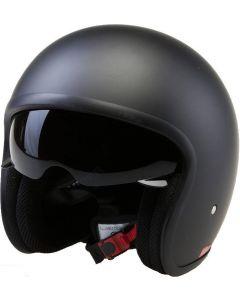 Fibreglass Low Profile Open Face Helmet with Inner Visor (H851)