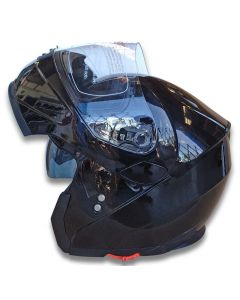 Flip-Up Helmet with Inner Tinted Visor and Chin Cover (H958)