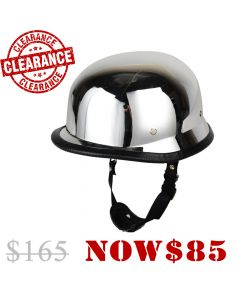 CNELL German Style Low Profile Helmet Chrome (HF02CHROME)