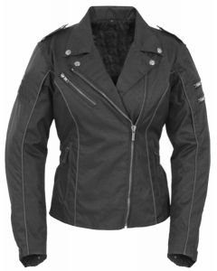 (JCF1017) Lady's Brando Cordura Biker Jacket Full Armour - 3XL