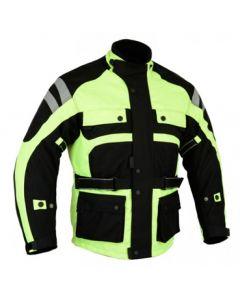 * Waterproof * Cordura Hi-Viz Jacket With All Protections - JCMHV