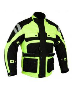 Men's Cordura Hi-Viz Waterproof Jacket with All Protections (JCMHV)