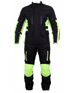 (JCMHVSET) Cordura Hi-Viz Jacket & Pants With All Protections