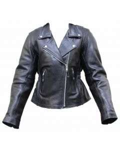 (JLF7110) CNELL LADY LEATHER JACKET-4XL