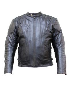 Leather Jacket Side Lace (JLM0101)