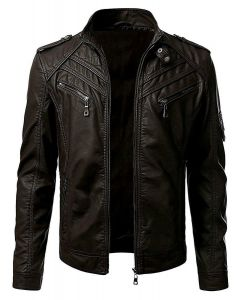 New Men's Motorcycle Fashion Leather Jacket (JLMF01)