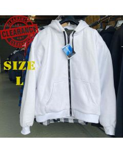 White Motorcycle Hoodie with Armours (KJWHT)