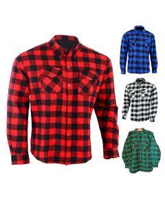 Motorcycle Button-Zip KEVLAR Shirt - KS (Zip Version)