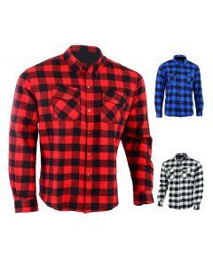 Motorcycle Cotton KEVLAR Shirt - KSN (Button Version)
