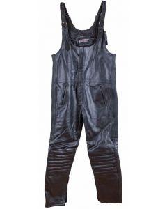 (LB)Biker Leather Bib Pants