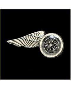 Large Wheel Wing Motorcycle Pin