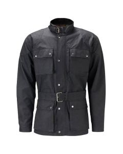 (OJM) CNELL BIKER Oil Skin Jacket for Men BLACK