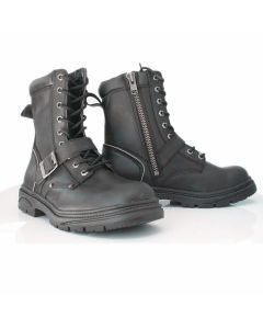 Lace Up Tall Road Boot Buckle & Side Zip(SM006)