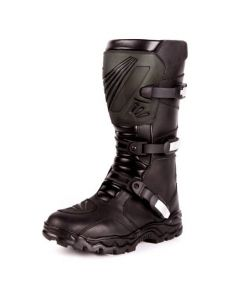 Men's Triple Buckle Leather Motorcycle Boots(SM015)