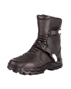 Men's Dual Strap Leather Motorcycle Boots(SM016)