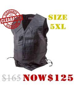 (V070) Live To Ride Leather Vest (Eagle Back)