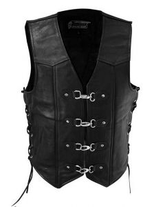 Leather Vest with 4 Easy Clips (V175)