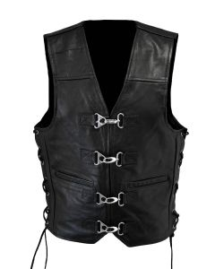 CNELL Men's Thin Leather Vest with Clips (V067)