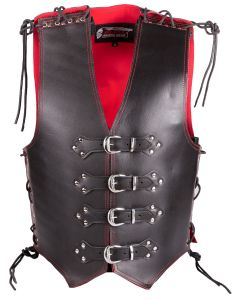 (V190) 4MM CNELL MOTORCYCLE LEATHER VEST