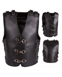 (V192) 4MM CNELL MOTORCYCLE LEATHER VEST