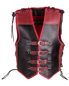 (V194) 4MM CNELL MOTORCYCLE LEATHER VEST