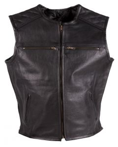 (V195) CNELL MOTORCYCLE LEATHER VEST