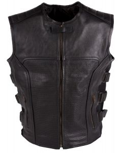 (V196) CNELL MOTORCYCLE LEATHER VEST