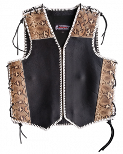 (V202) 4MM CNELL MOTORCYCLE LEATHER VEST