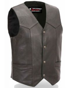 (V7833) CNELL LEATHER VEST-6XL