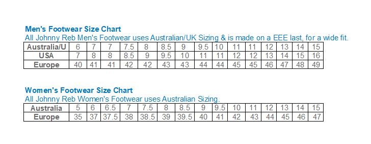 JR Size Chart